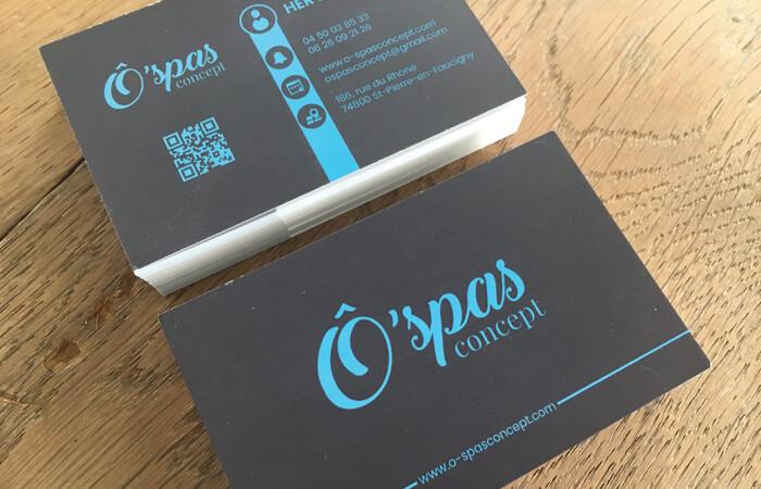 Refonte graphique des cartes de visite de la société Ô Spas Concept