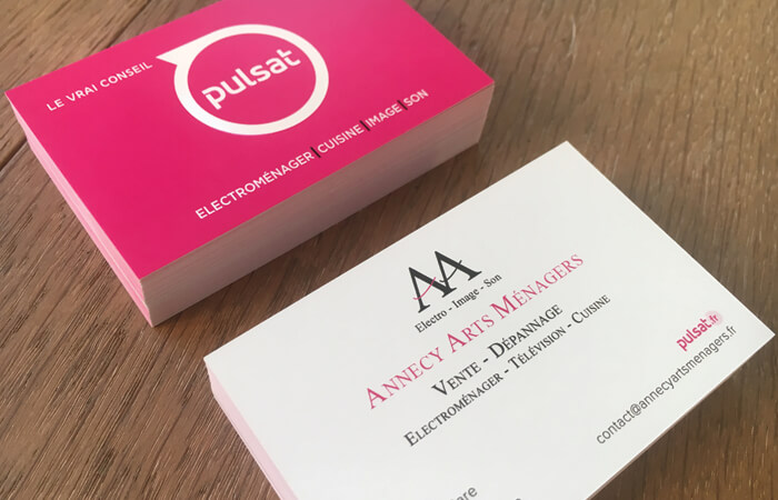 Modifications & Impression des cartes de visite d'un franchisé du groupe Pulsat
