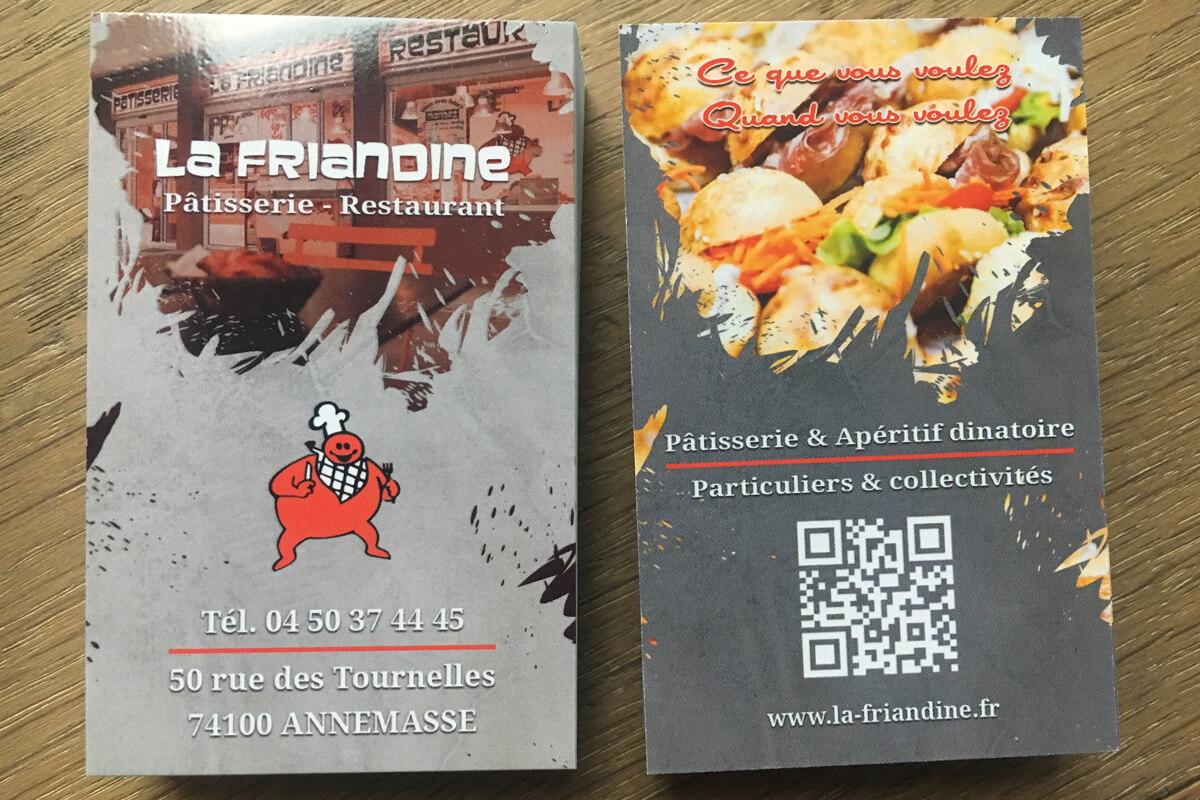 Carte De Visite La Friandine Par OAK Webdesign
