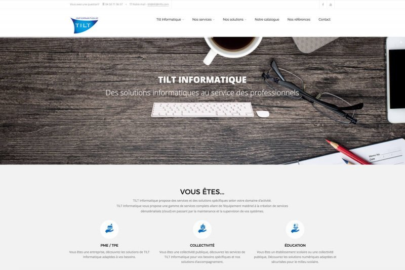 Site WEB TILT Informatique par OAK Webdesign 2