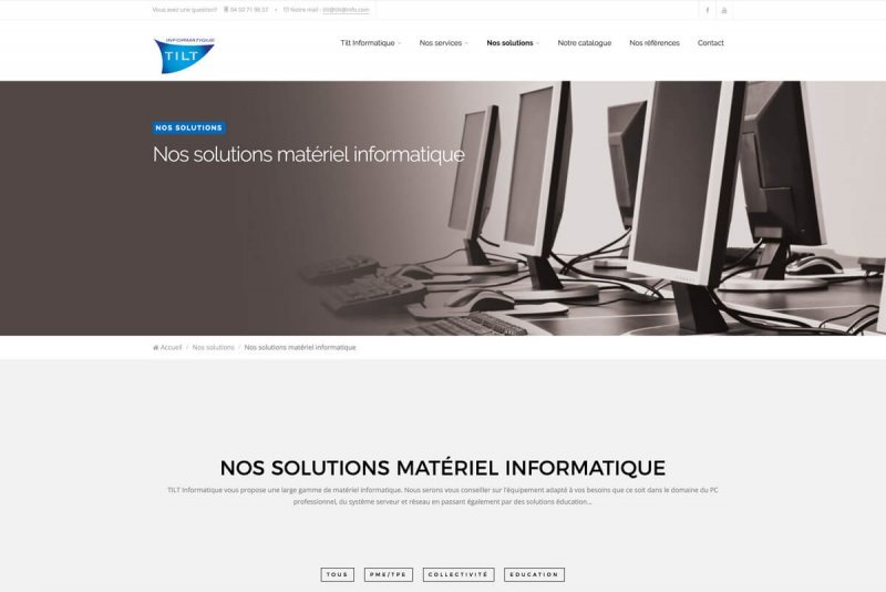 Site WEB TILT Informatique par OAK Webdesign 3