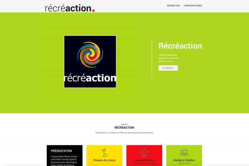 Site Web Responsive Association Récréaction